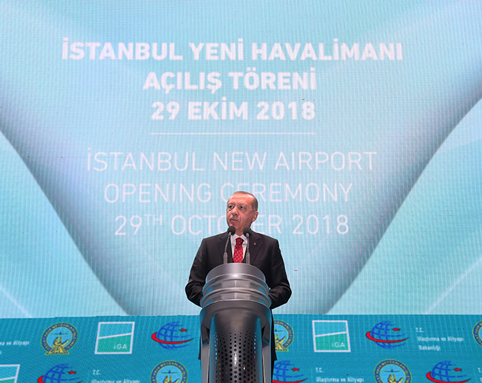 President Erdoğan attended the opening ceremony of the Istanbul Airport
