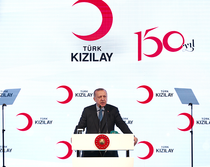 President Erdoğan delivered a speech at a meeting of the Red Cross and Red Crescent societies in the OIC region