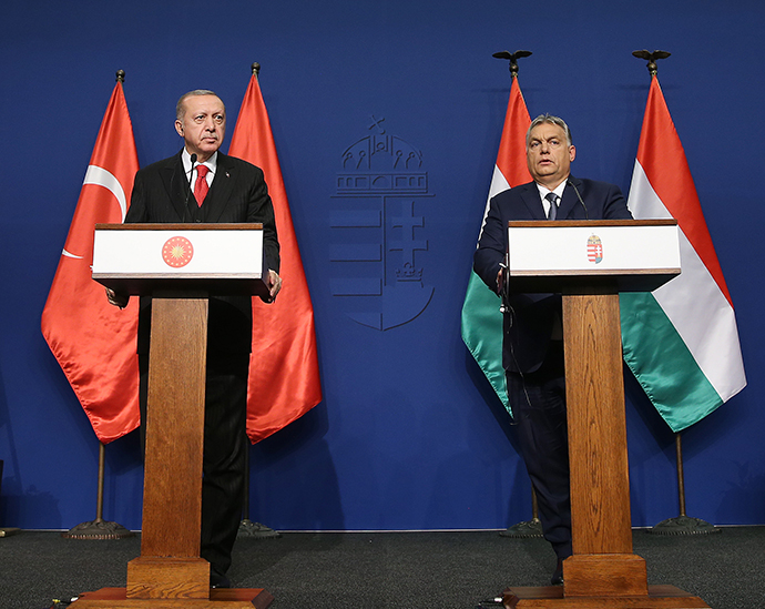 President Erdoğan and Prime Minister Viktor Orbán of Hungary held a joint press conference in Budapest