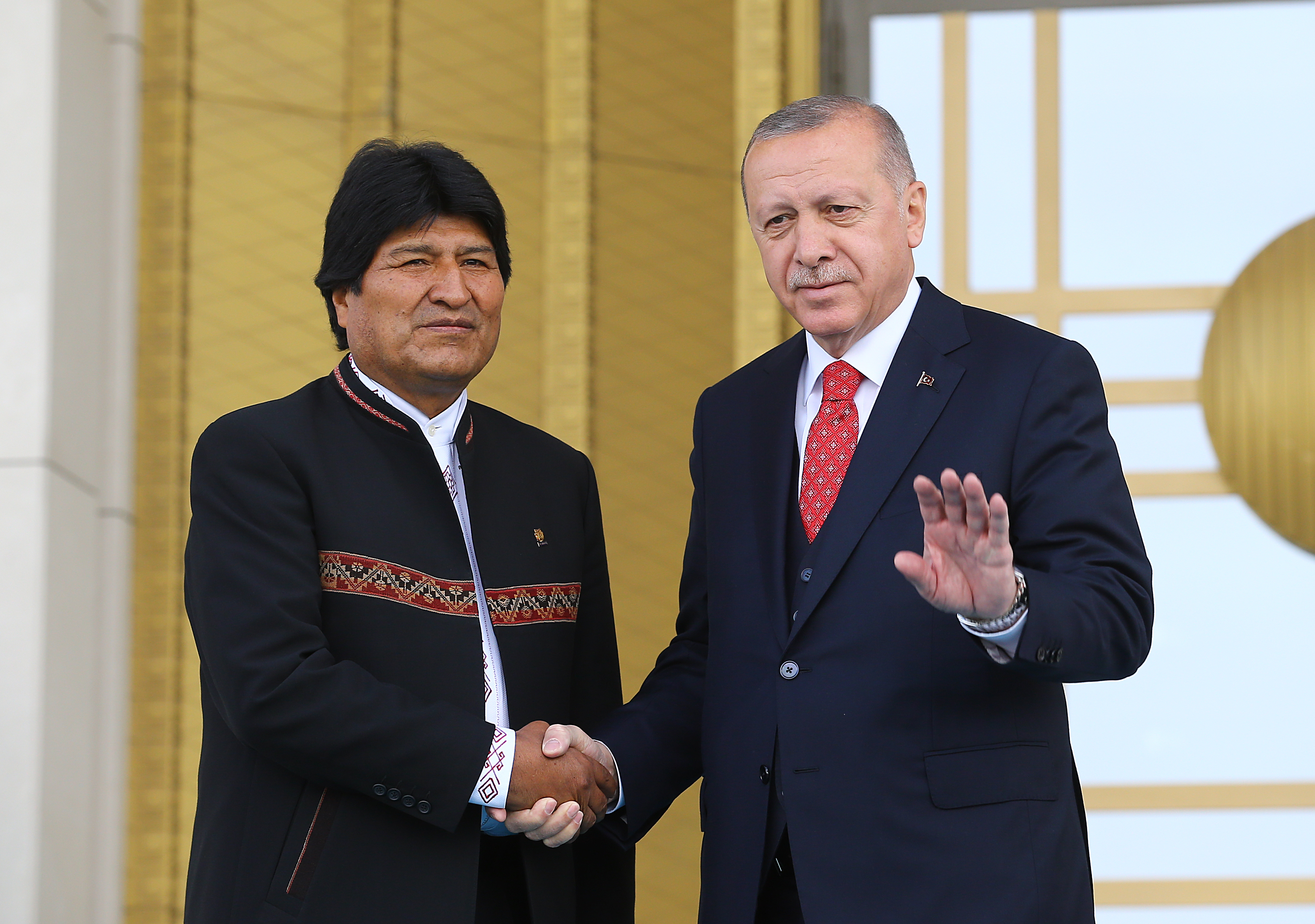 President Erdoğan met with President Evo Morales Ayma of the Plurinational State of Bolivia