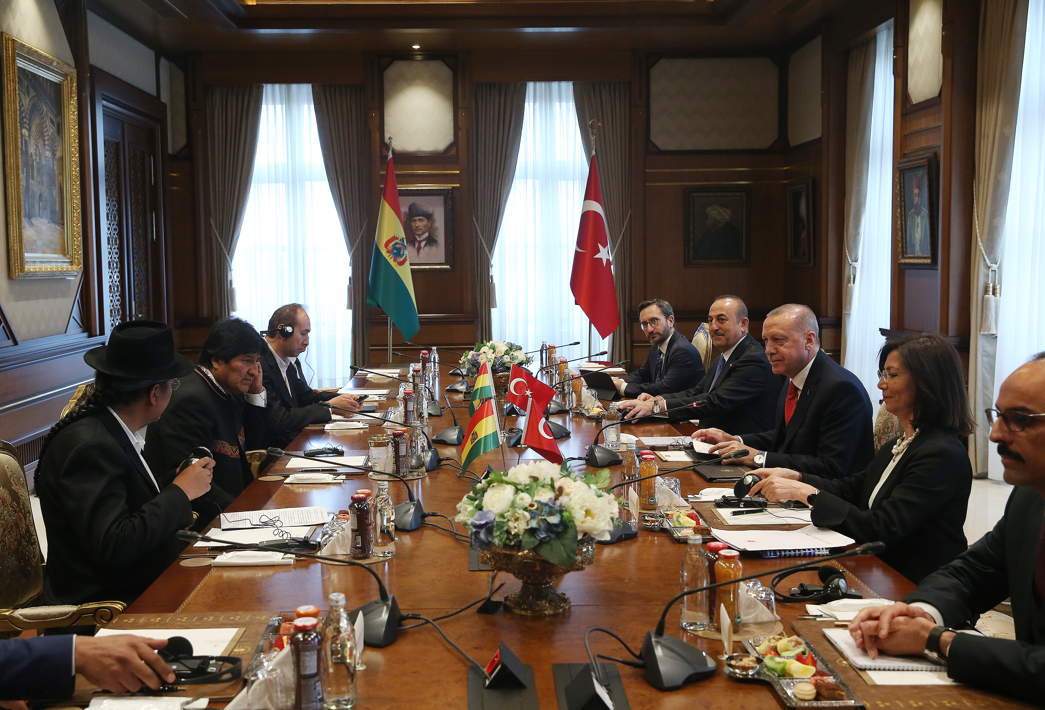 President Erdoğan and President Evo Morales Ayma of the Plurinational State of Bolivia held a joint press conference at the Presidential Complex