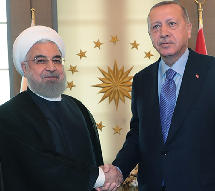 President Erdoğan meets with President Rouhani of Iran