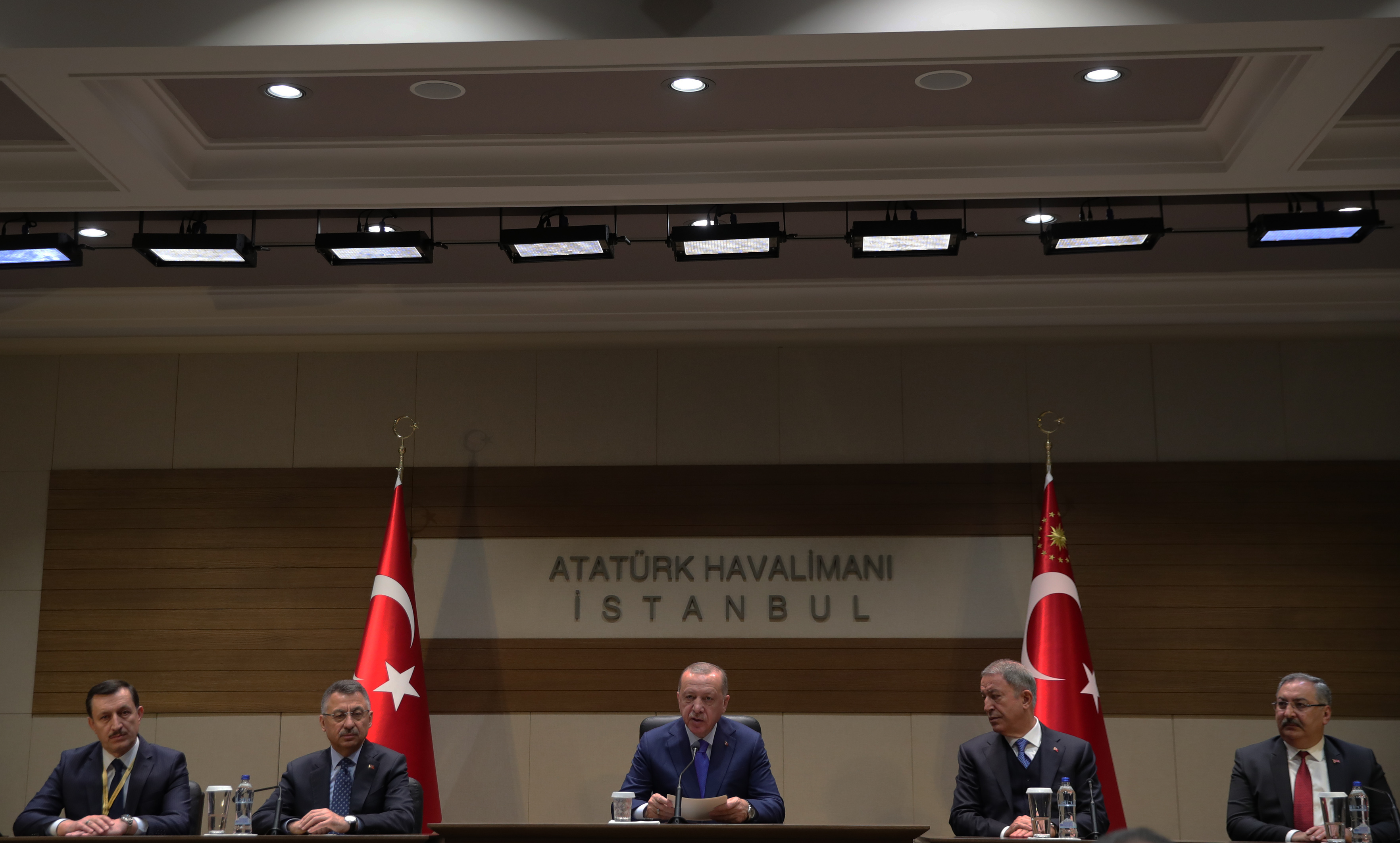 President Erdoğan addresses media before leaving for Berlin, where talks on Libya will take place