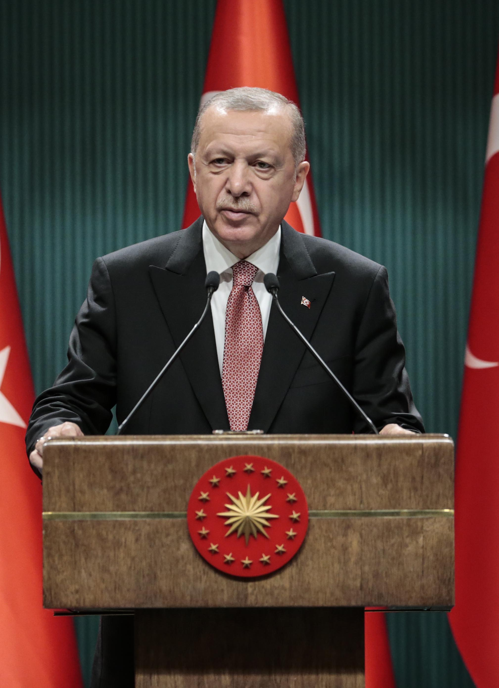 President Erdoğan addressed the nation following the meeting of the Presidential Cabinet