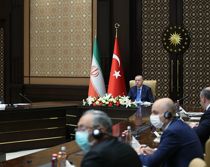 President Erdoğan attends 6th Meeting of the Turkey-Iran High Level Cooperation Council via videoconference