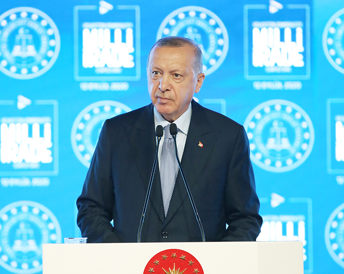 "President Erdoğan made a speech at the ""National Will from Tutelage to Democracy"" symposium"